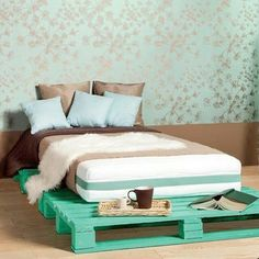#decoracao #reciclaredecorarblog #inspiracaoparadecorar #decoracaocriativa #pallet #decoracaocompallets #decoracaosustentavel #quarto