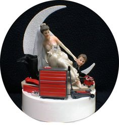 Car AUTO MECHANIC tools Wedding Cake Topper by YourCakeTopper, $54.80