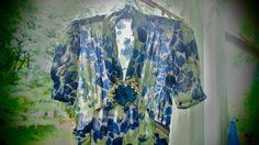 1930's VINTAGE DRESS Sheer FLORAL Silk Gorgeous