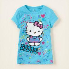Jumping beans cotton kids baby infants girl short sleeve t-shirt hello kitty tee