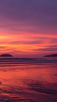 Nature Sunset Beach Landscape #iPhone #5s #wallpaper