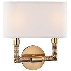 """Hudson Valley Dubois 12 1/2""""H Aged Brass Wall Sconce ($420) ❤ liked on Polyvore featuring home, lighting, wall lights, alabaster lighting, hudson valley lighting sconces, beige lamps, antique brass lamps and ivory lamp #antiquelamps"""