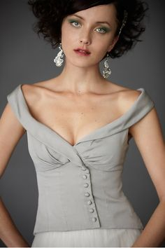 This neckline is amazing. Not that I can imagine it staying up though. #dress