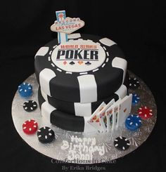 World Series of Poker (WSOP), stacked poker chip cake