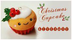 kawaii CHRISTMAS Cupcake TUTORIAL - HUGE Holiday Giveaway (CLOSED) !!! (...