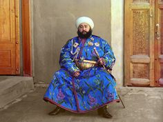 Prokudin-Gorskii took this photograph of Emir Said Mir Mohammed Alim Khan,  the…