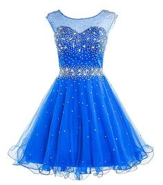 Short Prom dress,Tulle Prom dress ,Beaded prom dress,Short Homecoming Dress