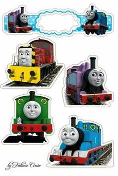 Thomas Birthday Parties, Thomas The Train Birthday Party, Trains Birthday Party, Train Party, Boy Birthday, Happy Birthday, Festa Monster Truck, Thomas And Friends Cake, Tayo The Little Bus