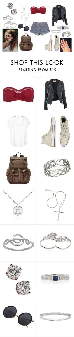 """Untitled #939"" by puffball188 ❤ liked on Polyvore featuring Princesse tam.tam, Levi's, CO, Converse, FOSSIL, Blue Nile, Fashionology, Itsy Bitsy, Apples & Figs and Tiffany & Co."