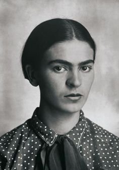 Portrait of Frida Kahlo by Guillermo Kahlo Mexico, c. 1926. Frida's father was a well known photographer who immigrated to Mexico from Germany.