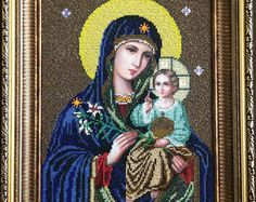 Mother Of God Holy Virgin Maria Orthodox Mary with the Child Madonna