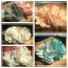 Vrolijke elastische haarbanden voor 5,- te bestellen via suzancreatief@hotmail.nl