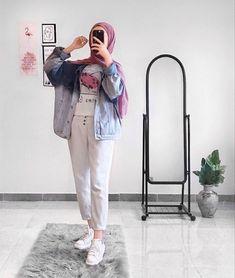 Urban Outfits, Casual Outfits, Hijab Fashion, Girl Fashion, Hijab Look, Hijab Outfit, Ootd Hijab, Modest Wear, Islamic Fashion