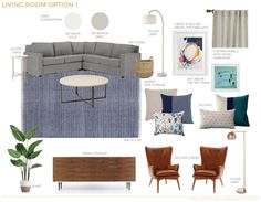 A Textured Traditional Mid Century Living Room