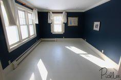 DIY Painted Plywood Subfloor