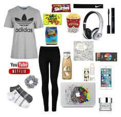 """""""Chilling at home"""" by ahriraine ❤ liked on Polyvore featuring Under Armour, Beats by Dr. Dre, Wolford, NIKE, Clinique, Topshop, Korres, Natasha Couture, West Bend and Polite"""