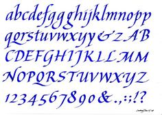 Here Are Two Chancery Italic Alphabets I Used For The Calligraphy Workshops Taught On 28 August 2008 And Same Date In