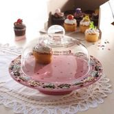 """Found it at Wayfair - Confection 10"""" Pedestal Cupcake Cake Plate with Dome"""