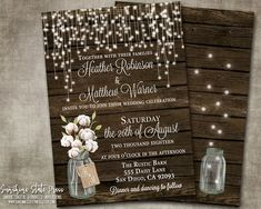 RSVP Wedding Insert Response Card Cotton Mason Jar Rustic Country Barn Wood String Lights Cream Digital or Printed I customize it Etsy Cards, Beautiful Wedding Invitations, Response Cards, Easy Peasy, Celebrity Weddings, Barn Wood, Wedding Cards, Rsvp