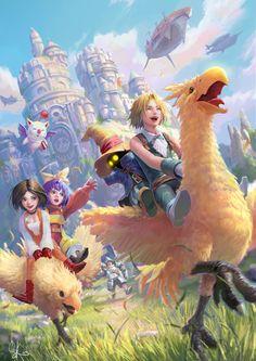 ArtStation - Fan Art of Final Fantasy IX, Francis Tneh