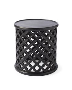 From extra seating to side table stacked with books, this multitasking must-have was modeled after ceremonial stools used by Bamileke tribal chieftains. Our rendition features an intricate hand-carved basketweave pattern.