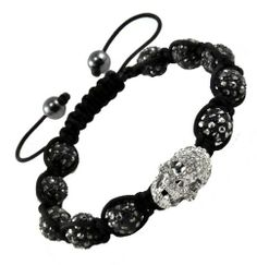 Hematite Macrame Beaded Skull Beads Crystal Stone Balls Shamballa Bracelet, Disco Ball Pave Bracelet, SB11 Hinky Imports. $19.99. 100% Handmade. Made from Shamballa Beads and Hematite. Adjustable Size: (Min. 7.00in; Max. 10.00in). Unisex Bracelet for Men and Women. Bead Size: 10 mm