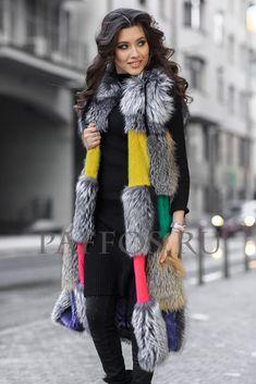 Well, it is different! Big Girl Fashion, Fur Fashion, Fur Jacket, Fur Coat, Trendy Hoodies, Fur Clothing, Fur Accessories, Cashmere Shawl, Winter Chic