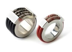 Rings   Liron Braker.  Leather and silver