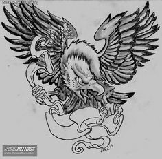 Diseño/Plantilla tatuaje Águilas