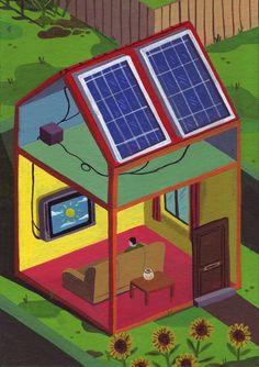 Who needs a fridge?? Solar power for the TV!!!!!!!!!!!!!!!!