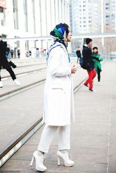 New_York_Fashion_Week-Street_Style-Fall_Winter-2015-Miroslava_Duma-Scarf-White_Outfit- by collagevintageblog, via Flickr
