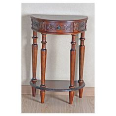 International Caravan Windsor Hand Carved Half Moon Console Table Walmart $169 $162 on wayfair w/free shipping