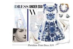 """""""Porcelain Print Trend"""" by crystalg ❤ liked on Polyvore featuring Qupid, Rosanna, Nach and Lizzie Fortunato"""