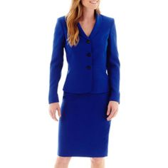 <p>Our seamed-waist shawl collar jacket and pencil skirt add flattering shaping and modern polish to your workwear look.</p><ul><li>3-button jacket</li><li>25