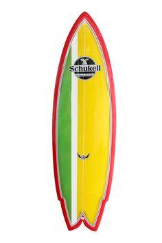 Prancha de surf Schukell modelo Arpoador. Rabeta double wing fish.