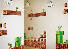 Super Mario Bros. Totally want to paint this in the man cave!