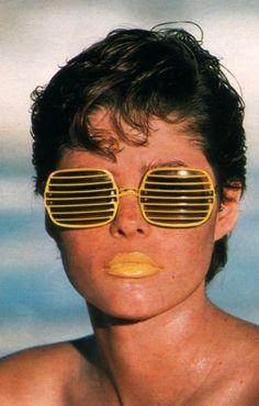 Robin Saidman for Seventeen magazine, June 1984. Sunglasses by Pan Oceanic.