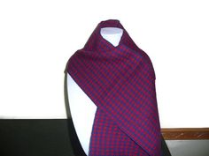 Hand Woven Houndstooth Scarf by FiberandBeadBoutique on Etsy, $30.00