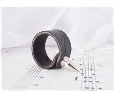 Silver spike ring stud r ing gothic leather ring rings 6