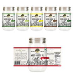 Help create a brand for Kitchen Naturals Virgin Coconut Oil Product label contest design Clear Glitter Nails, Glitter French Manicure, Label Design, Packaging Design, Shattered Glass, Creating A Brand, Product Label, Custom Labels, Coconut Oil