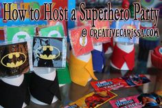 Superhero Birthday Party Ideas - perfect for any super party from iron man, superman, avengers or just a mix