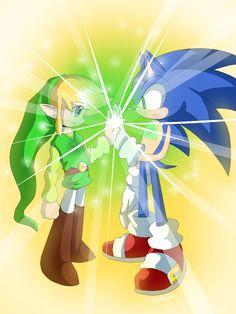 Sonic + Link.