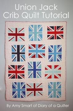 union jack quilt tutorial Amy Smart Diary of a Quilter Quilting Tutorials, Quilting Projects, Sewing Projects, Bag Tutorials, Quilting Ideas, Sewing Tips, Sewing Tutorials, Flag Quilt, Quilt Blocks