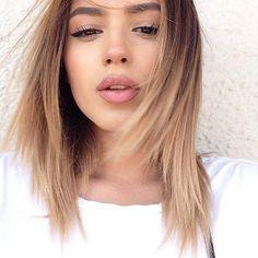 Straight Medium-Length Fine Hair with Short Layers