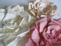 рвано-бумажный цветок мастер-класс