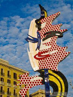 Barcelona Roy Lichtenstein sculpture