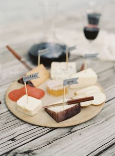 DIY cheese platter