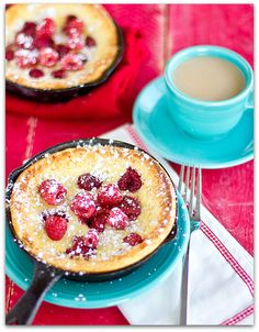 Chasing Some Blue Sky: Raspberry Dutch Babies