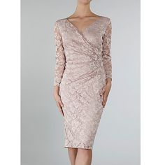 Buy Gina Bacconi Stretch Lace Sequin Dress, Champagne Online at johnlewis.com