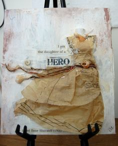 I love how this is made out of a tissue pattern | Mixed Media Collage - Christina Aiton